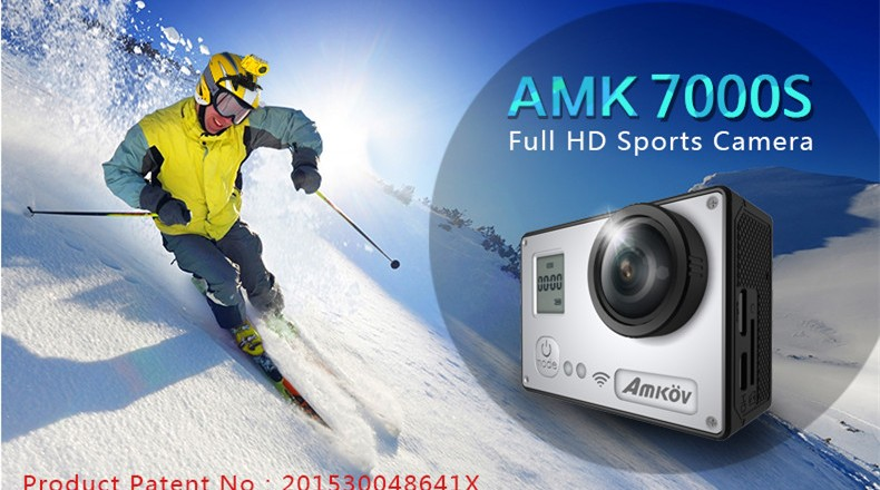 AMKOV AMK7000S  4k, Full HD Wifi Sports Action : Recensione e Offerte